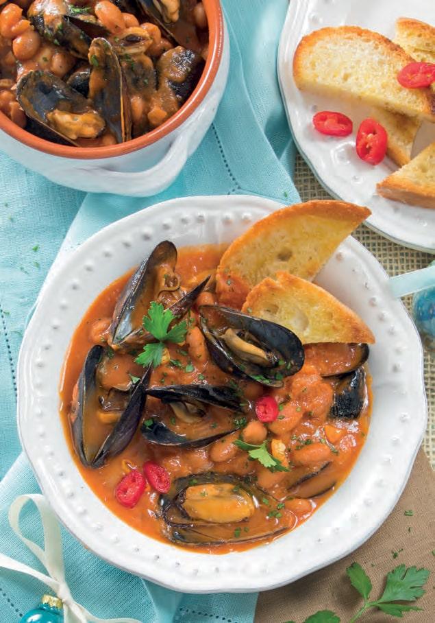 Zuppa di cozze e fagioli: orto e mare per un primo squisito!