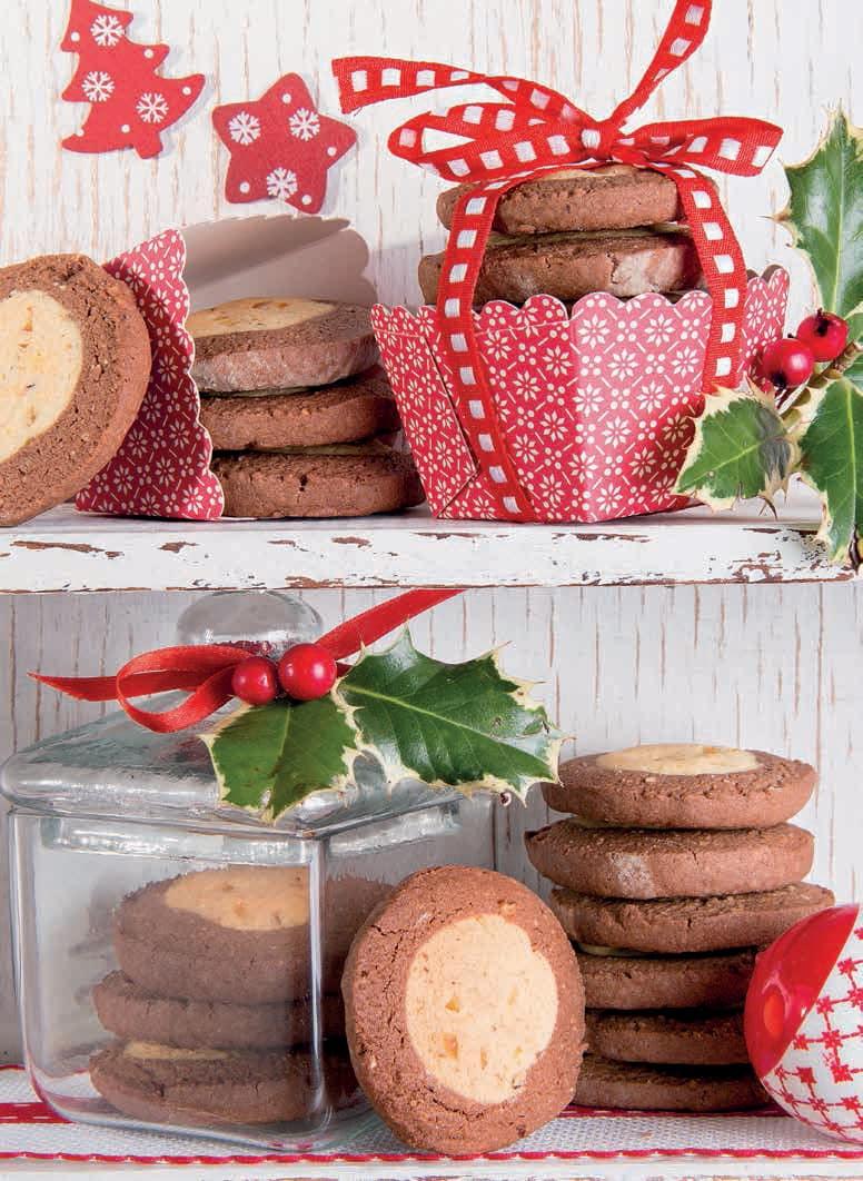 Biscotti oblò con farina di mandorle, nocciole e cacao