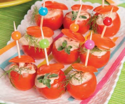 Pomodorini farciti con tonno e maionese