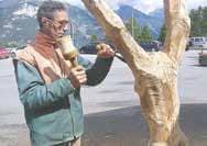 Luca Germena, sculture l'artista di Avigliano che fa rivivere il legno