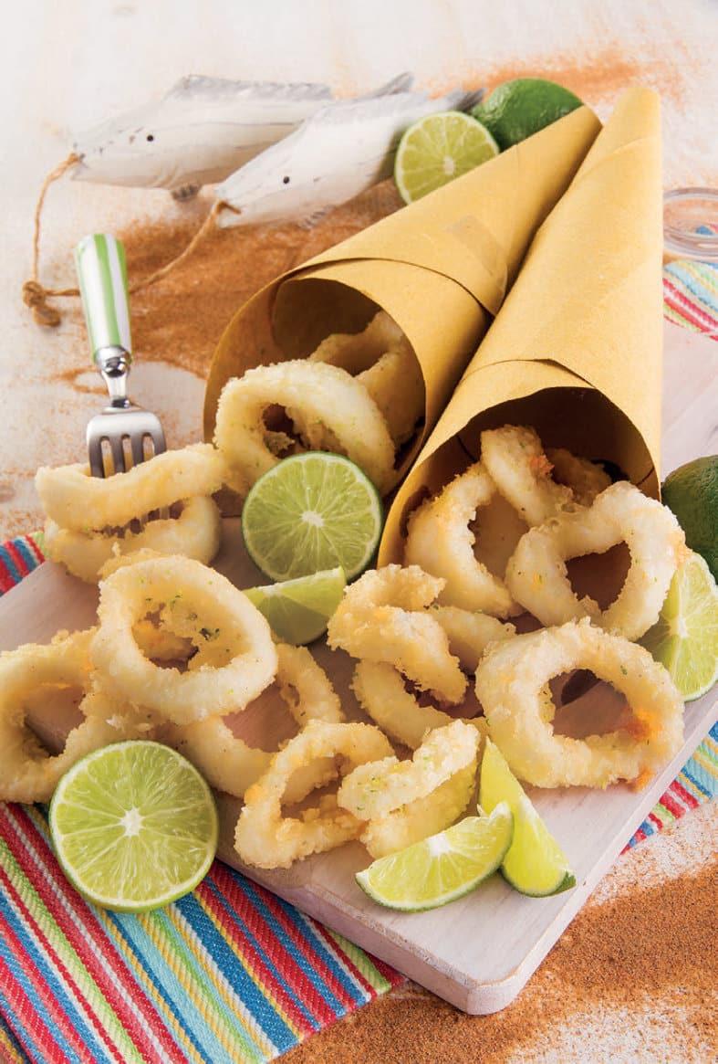 Ricetta della frittura di calamari al profumo di lime