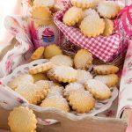 Biscottini cioccolato bianco e mandorle con zucchero di canna