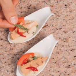 Mousse di fagioli e tonno con rosmarino e timo