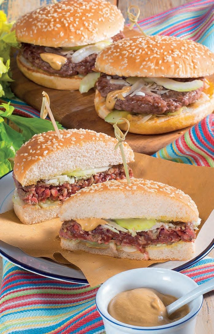 Hamburger di cavallo con senape e sedano