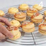 Biscotti con crema all'arancia e caramello