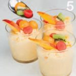 Gelato mango e pesca senza latte: ricetta con gelatiera