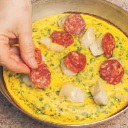 Frittata saporita con carciofini e salame piccante