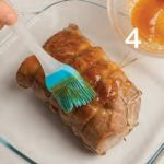 Arrosto di maiale laccato al miele con patate saporite