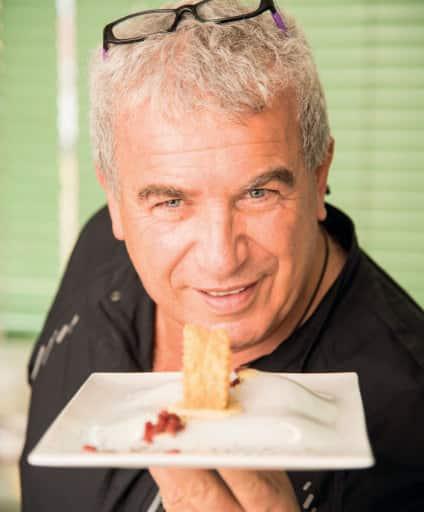 Girella croccante al prosciutto con zabaione al parmigiano