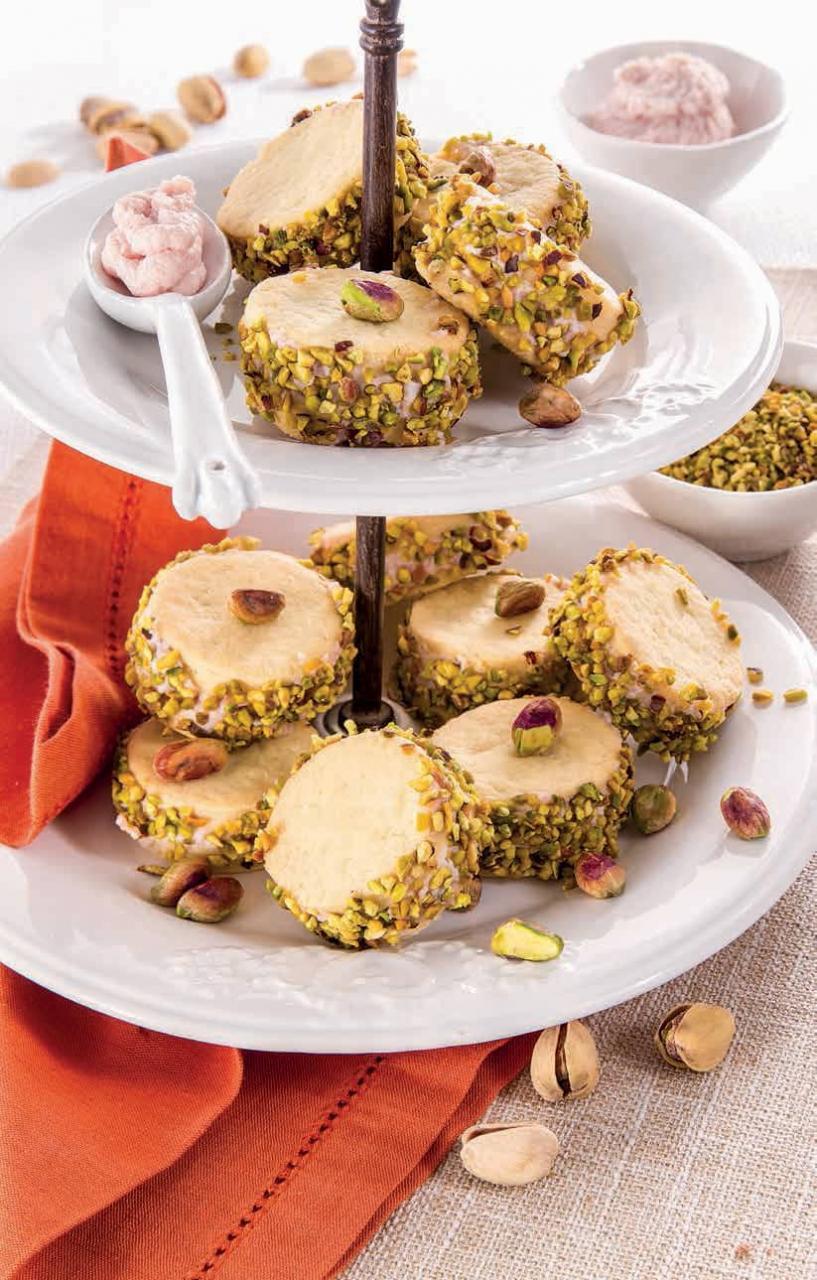 mousse di prosciutto e biscotto pistacchi