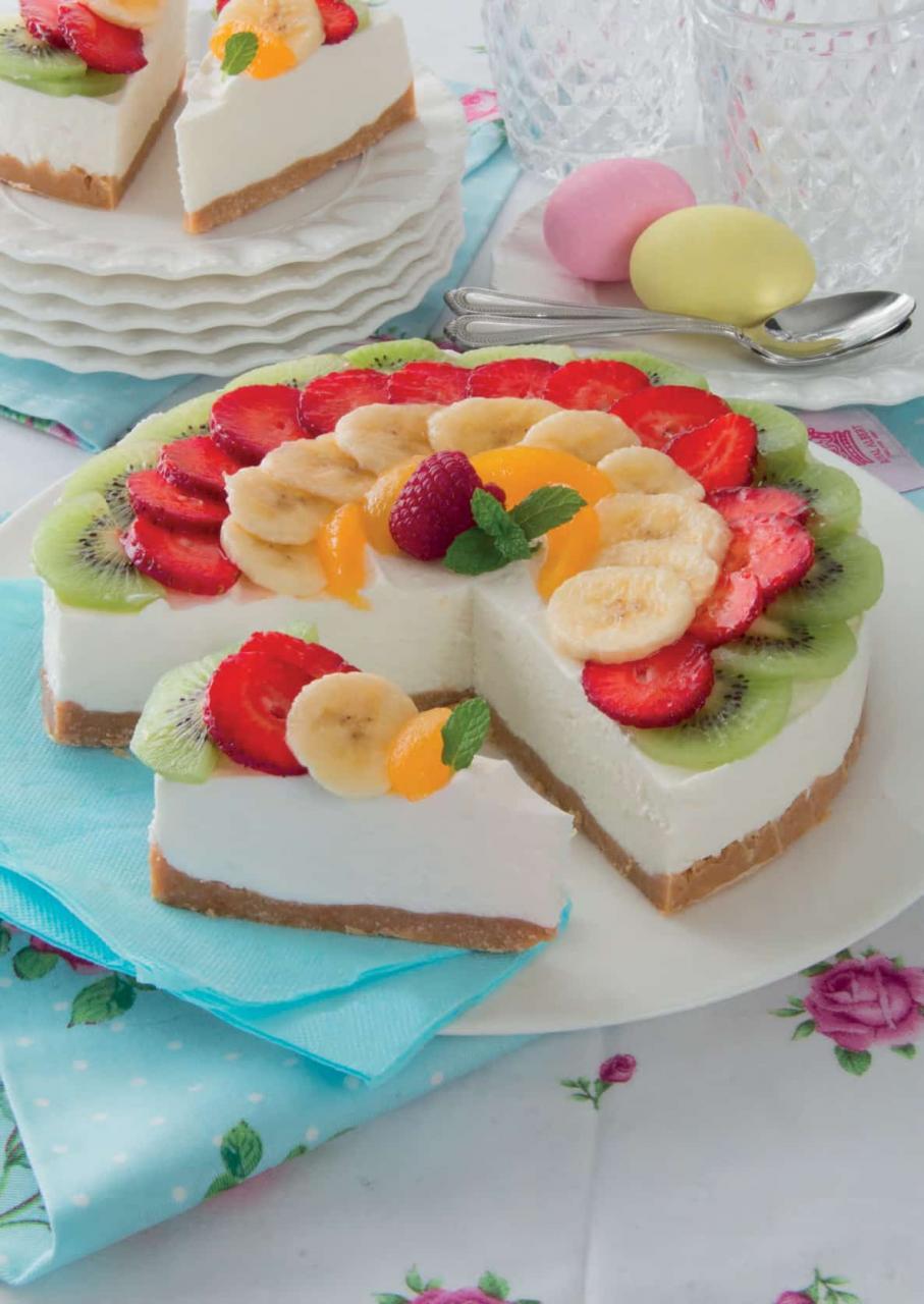 Cheesecake allo yogurt greco con frutta mista