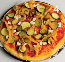 Focaccia alle verdure con peperoni, zucchine e melanzane