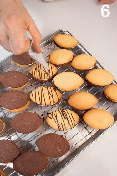 Biscotti accoppiati alle mandorle con crema limone e burro