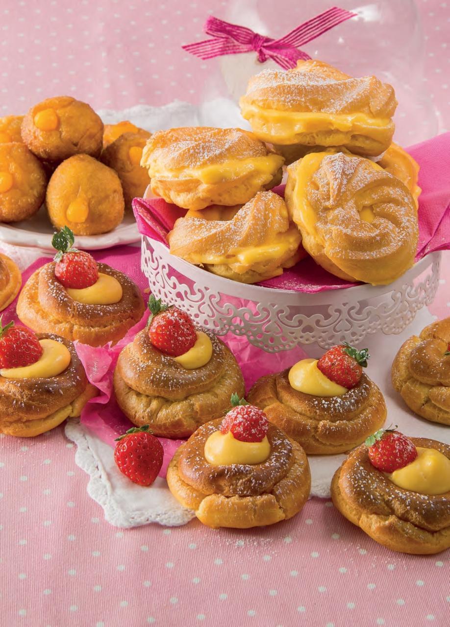 Mini Paris brest con crema al limone: la ricetta illlustrata