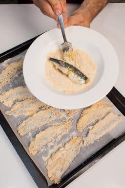 Ricetta delle Sarde a beccafico fritte
