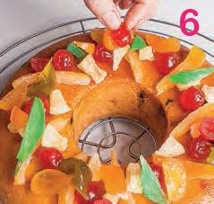 Ciambella portafortuna con frutta candita