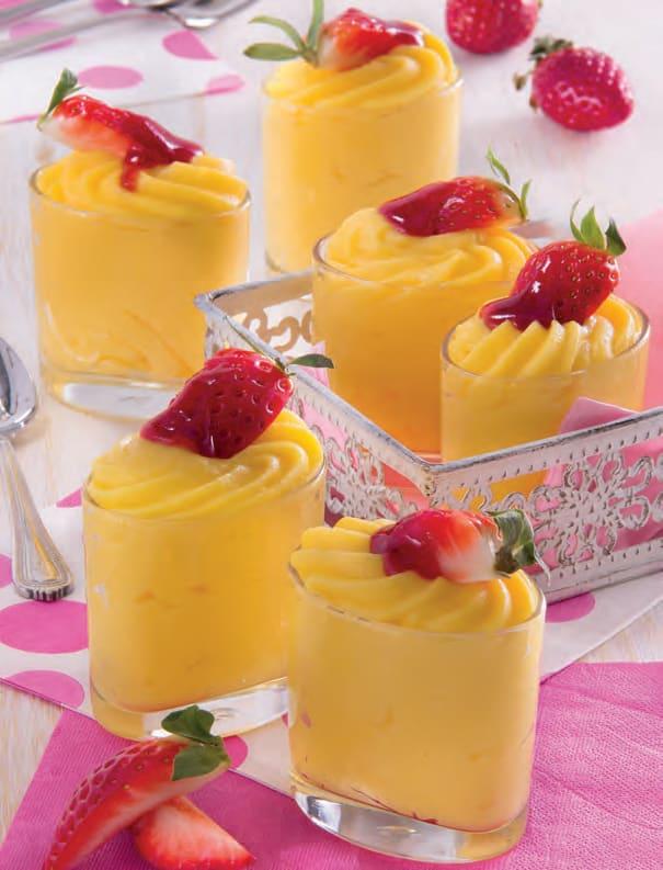 Bicchierini di crema al limone: