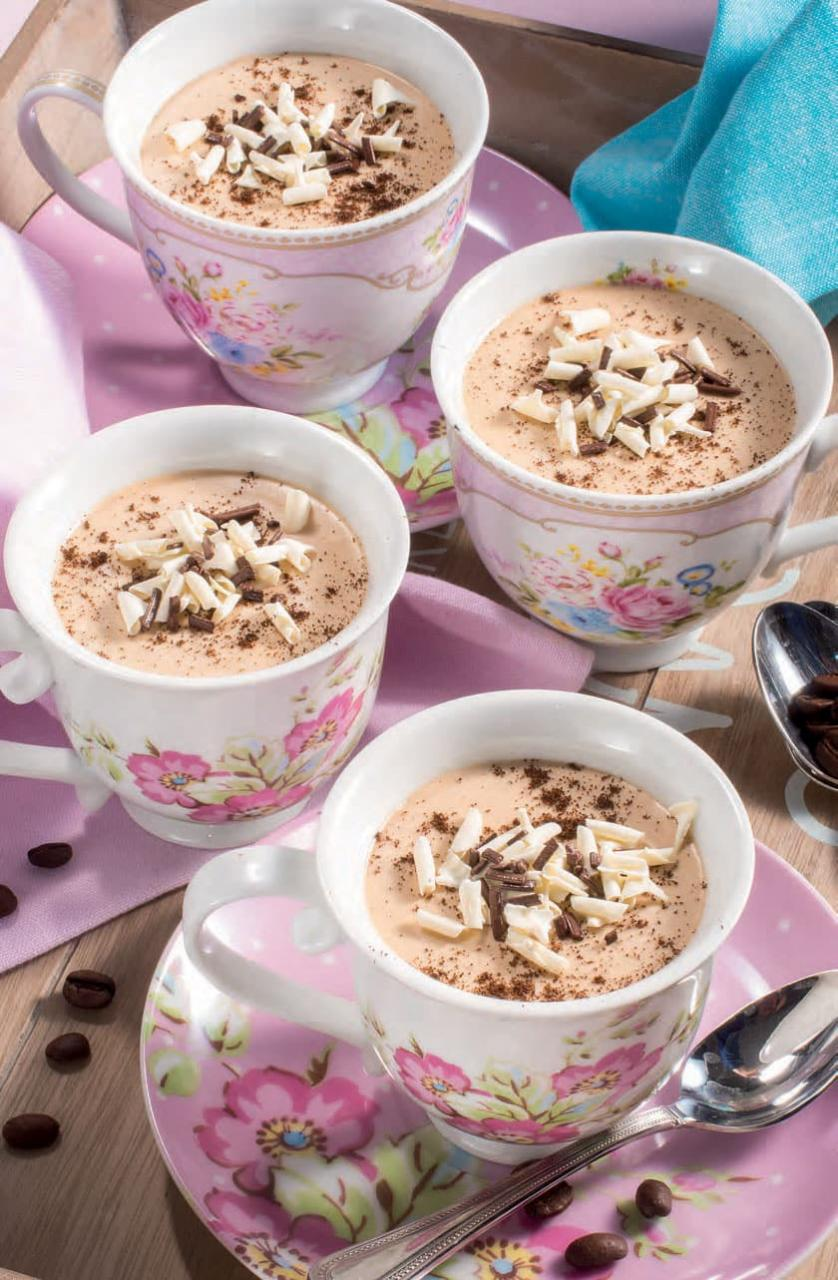 Biancomangiare al caffè, ricetta senza glutine