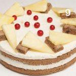 Torta all'ananas con crema al mascarpone