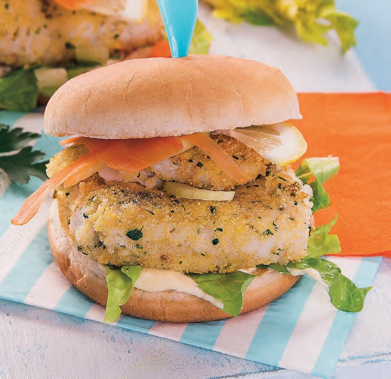 Panini con fish burger di merluzzo fatti in casa