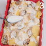 Tortino di patate con funghi e taleggio DOP