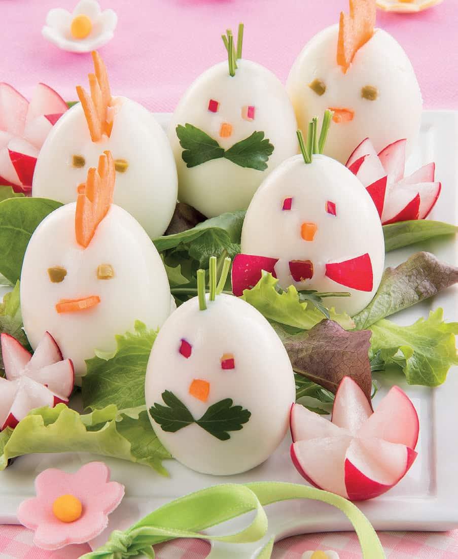 Ovetti nel pollaio: ricetta delle uova sode che sembrano pulcini