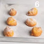 Bignè fritti caramellati con crema pasticcera all'arancia