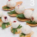 Tartufi al pecorino e robiola con confettura di ciliegie