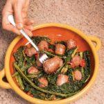 Ricetta del Cavolo nero stufato con salsiccia