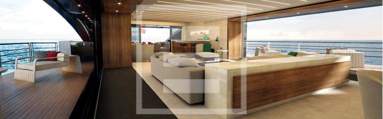 The M60 SeaFalcon is conceived as an open plan vessel