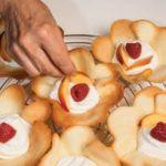 Cialde con farcia allo yogurt greco e frutta