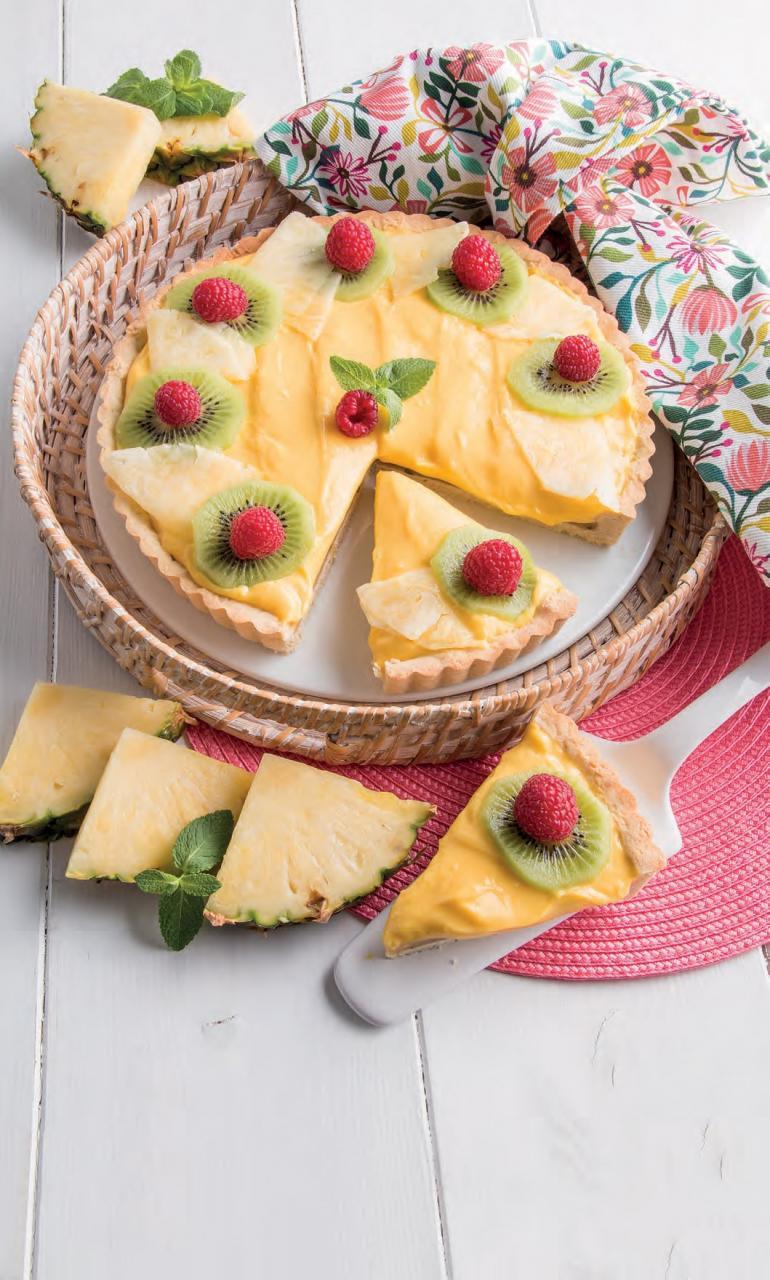 Crostata tropicale con ananas e banana