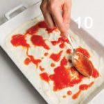 Nidi di pasta all'uovo con pomodoro e besciamella