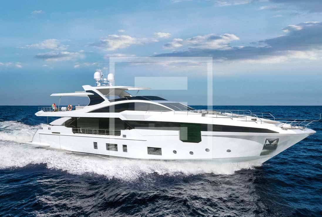 The Azimut Grande 115 holds RINA Pleasure certification