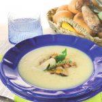Vellutata di patate con funghi porcini ed erbe aromatiche