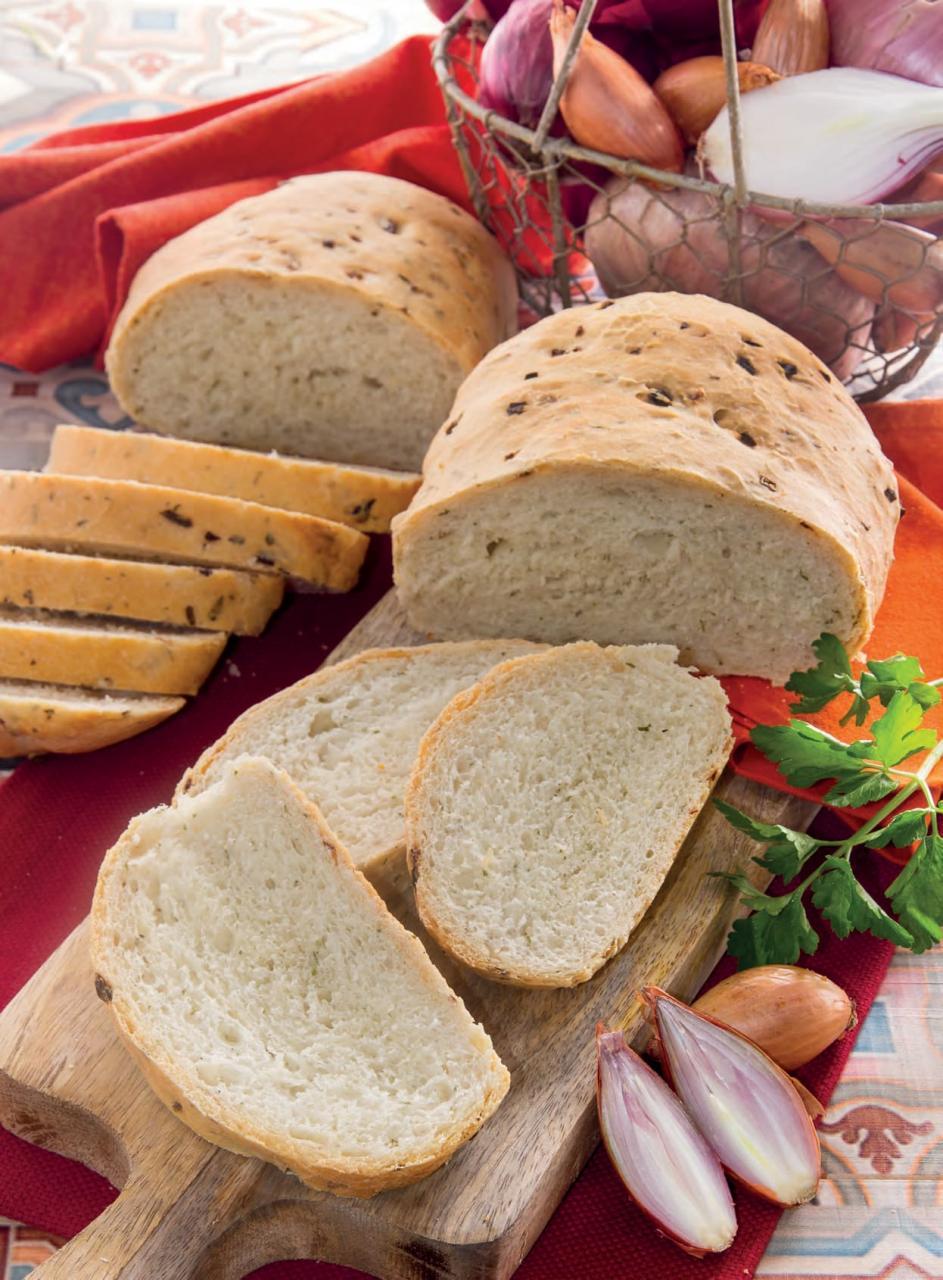 Pane allo scalogno con farina di farro