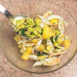 Insalata estiva di seppie con patate e fagiolini