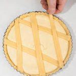 Crostata con ricotta al limone elatte condensato