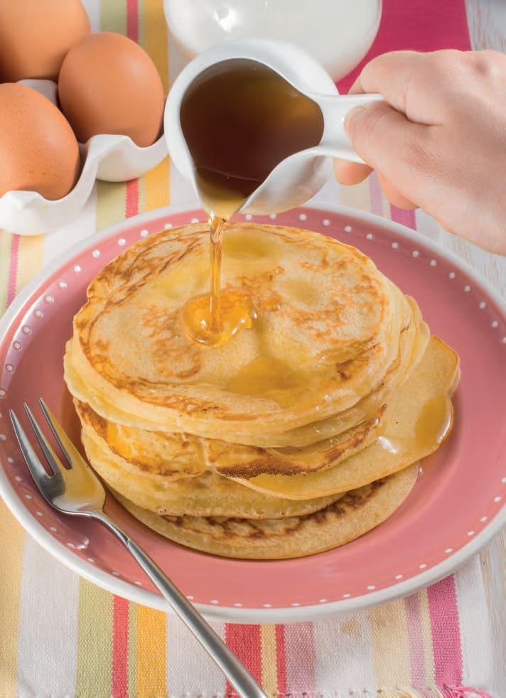 Pancake allo sciroppo d'acero per la colazione all'americana