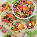 Caponata di verdure velocissima per bruschette golose