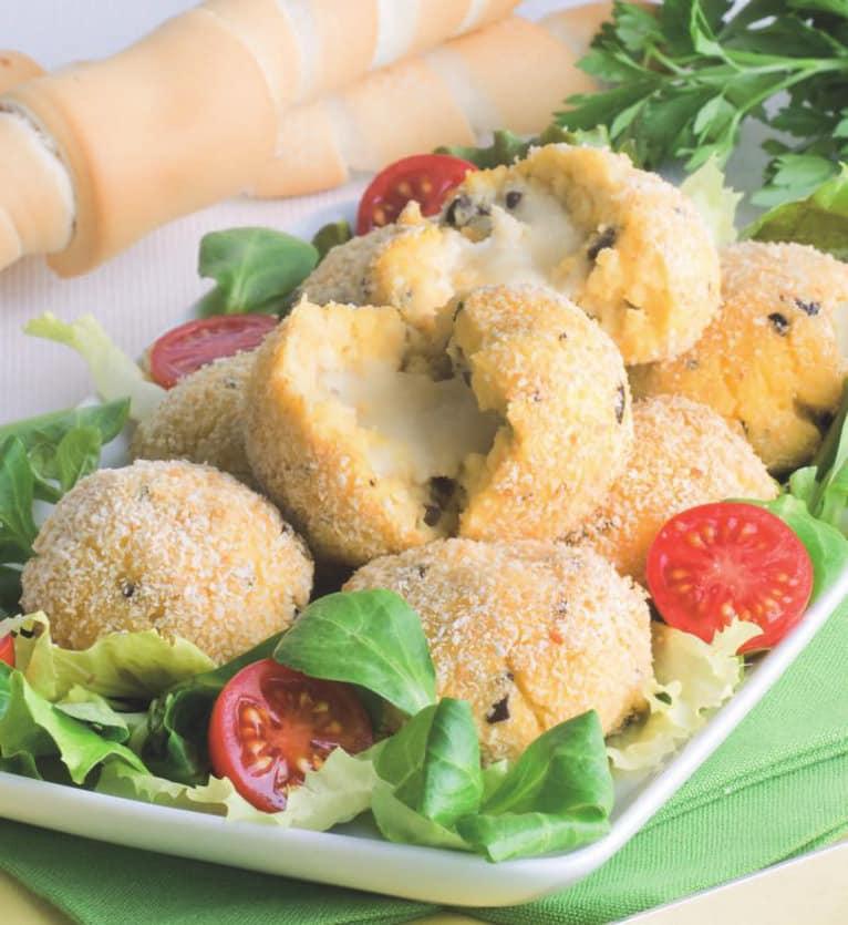 Polpette vegetariane di ricotta e patate con cuore di mozzarella