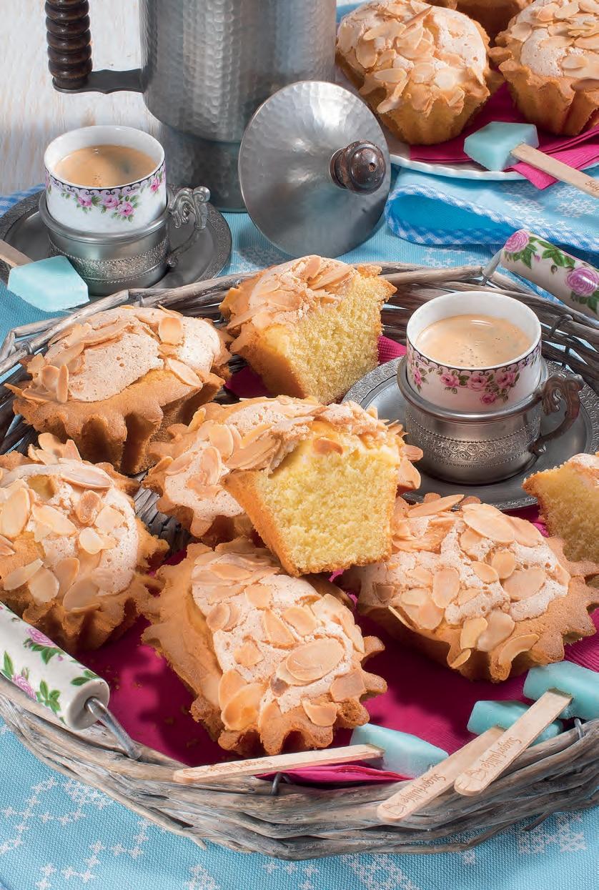Mini plum cake con mandorle e vaniglia