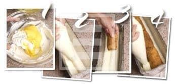 Delizia cremosa di mascarpone e vaniglia, o tronchetto morbido