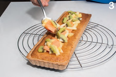 Crostata frangipane con farina di kamut integrale e arancia