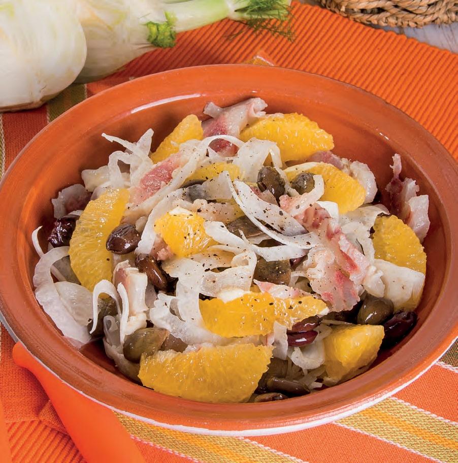 Insalata di nervetti con arance, finocchi e olive