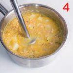 Crema di lenticchie con patate e guanciale