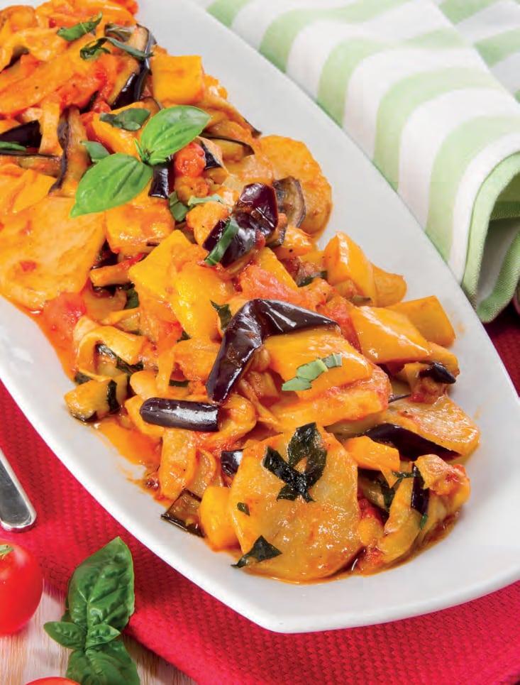 Mix di verdure fritte (peperoni, melanzane) con patate e sughetto
