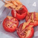Pomodori farciti con mezze penne al salame