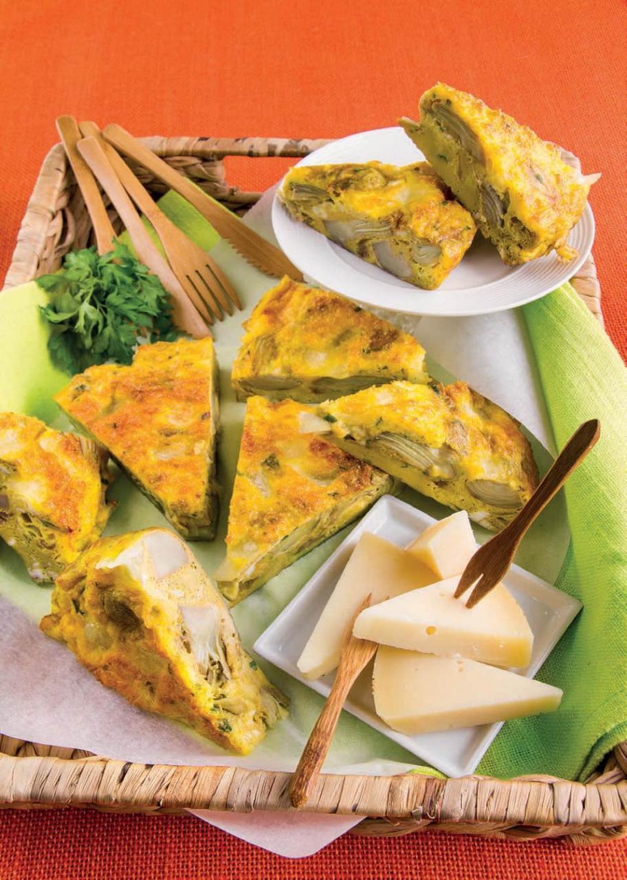 Torta salata con carciofi, acciughe e caciocavallo