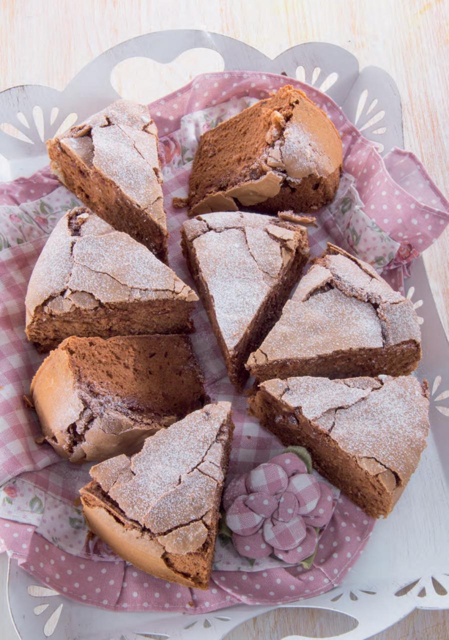 Torta al cioccolato fondente e vaniglia